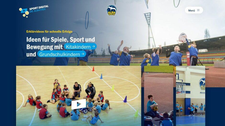 """""""Sport digital – Die ALBAthek"""": ALBA und BMI präsentieren neue Online-Plattform für Pädagog:innen und Coaches"""